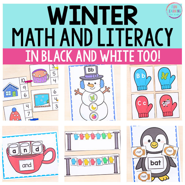 Winter Math and Literacy Activities