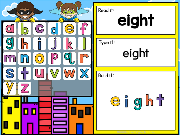 Superhero Sight Words Third Grade - Google Slides & Seesaw