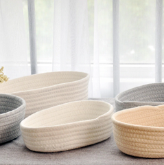 Knitted Round Baskets Sundries Organisation