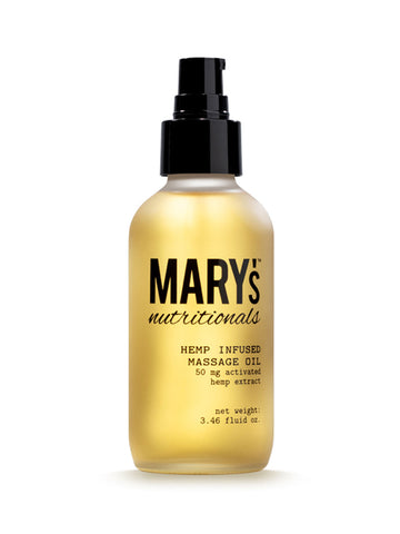 Hemp Infused Massage Oil - The MARY Marketplace