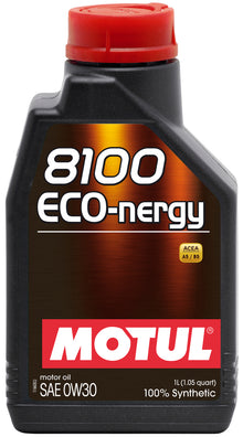 Motul 1L Synthetic Engine Oil 8100 0W30 ECO-NERGY - Volvo-Land RoverHonda