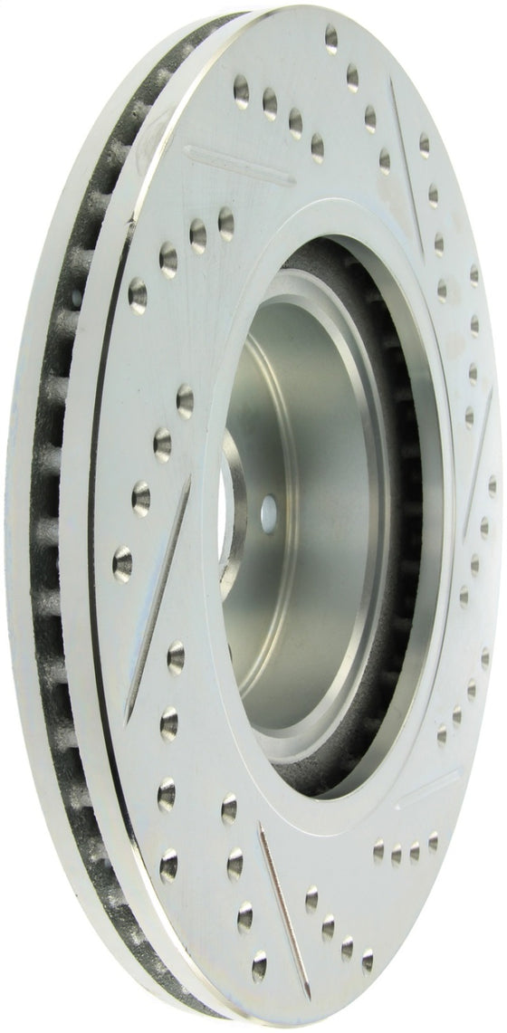 StopTech Select Sport 09-13 Subaru Forester Slotted and Drilled Right Front Rotor