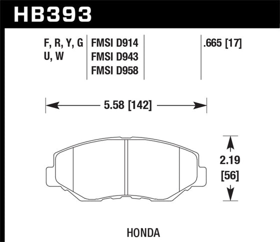 Hawk 13-15 Honda Civic Si DTC-60 Front Race Brake Pads