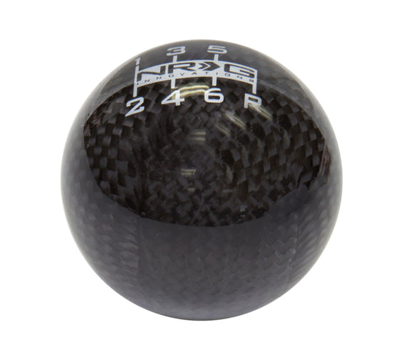 NRG Universal Ball Style Shift Knob - Black Carbon Fiber (6 Speed Pattern)