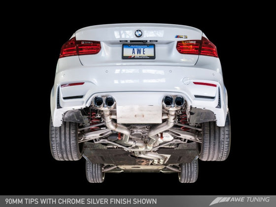AWE Tuning BMW F8X M3/M4 Non Resonated SwitchPath Exhaust - Diamond Black Tips (102mm)