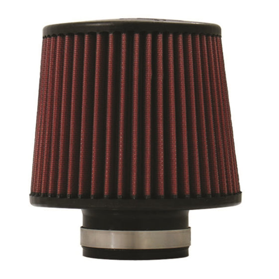 Injen High Performance Air Filter - 2.50 Black Filter 6 Base / 5 Tall / 5 Top