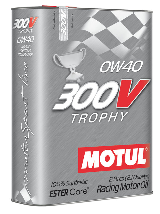 Motul 2L Synthetic-ester Racing Oil 300V TROPHY 0W40