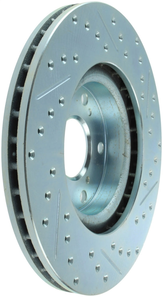 StopTech Select Sport 06-15 Honda Civic Si Slotted and Drilled Right Front Rotor