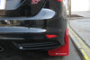 Rally Armor 13+ Ford Focus ST Black Mud Flap w/ Red Logo