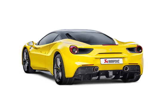 Akrapovic 16-19 Ferrari 488 GTB/488 Spyder Slip-On Line (Titanium) w/ Carbon Tips