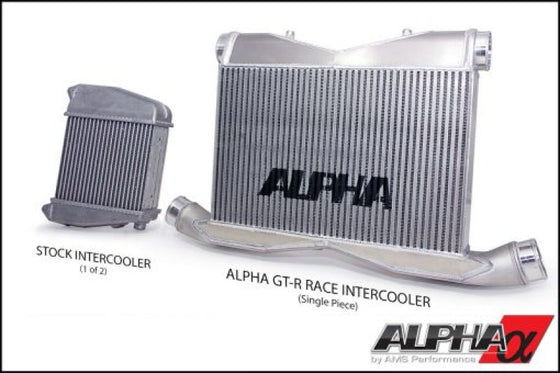 AMS Performance 09-11 Nissan GT-R Alpha Race Front Mount Intercooler w/Logo