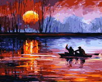 Landscape Boat Paint By Numbers Kits PBN91072
