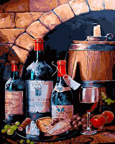 Wine Diy Paint By Numbers Kits VM95206