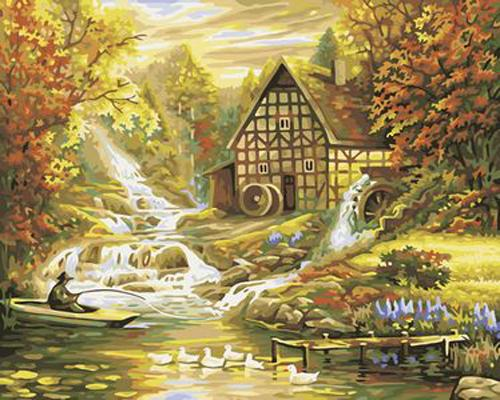 Landscape Village Paint By Numbers Kits ZXB259