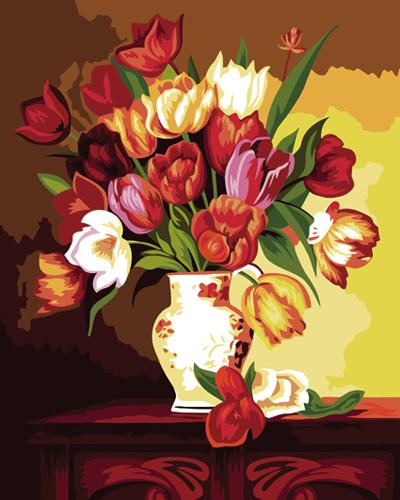 Tulips Diy Paint By Numbers Kits ZXB473