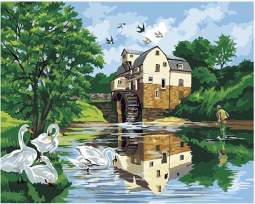 Landscape Village Paint By Numbers Kits ZXB483-25