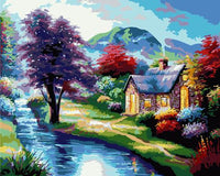 Landscape Village Paint By Numbers Kits ZXB522