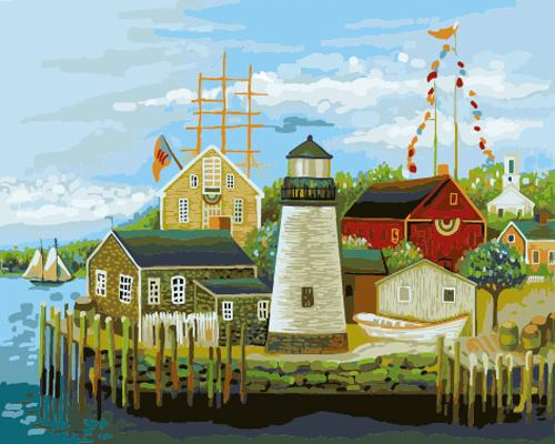 Lighthouse Diy Paint By Numbers Kits ZXB601-27