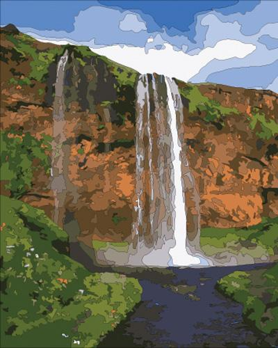 Landscape Waterfall Diy Paint By Numbers Kits ZXB663