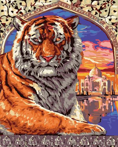Animal Tiger Diy Paint By Numbers Kits ZXB808