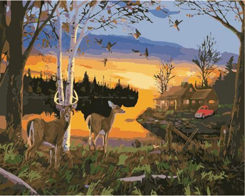 Deer Diy Paint By Numbers Kits ZXB893