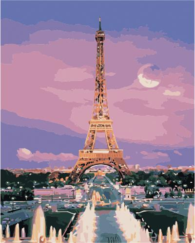 Landscape Eiffel Tower Diy Paint By Numbers Kits ZXB903