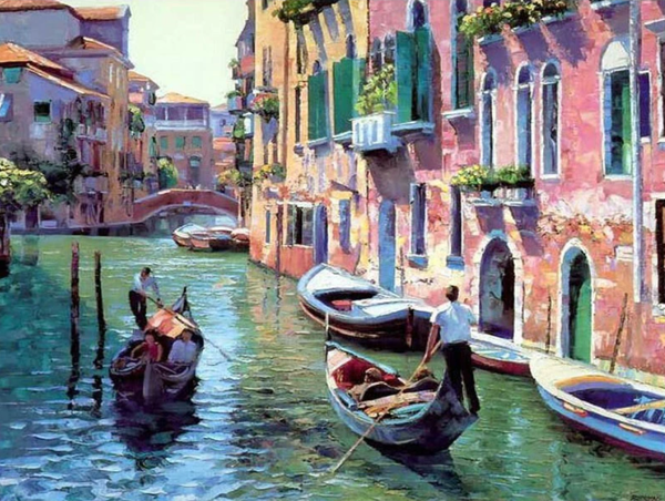 Landscape Boating Venice Diy Paint By Numbers Kits VM00045