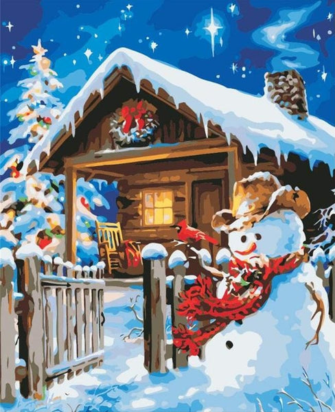 Snowman Diy Paint By Numbers Kits BN94015