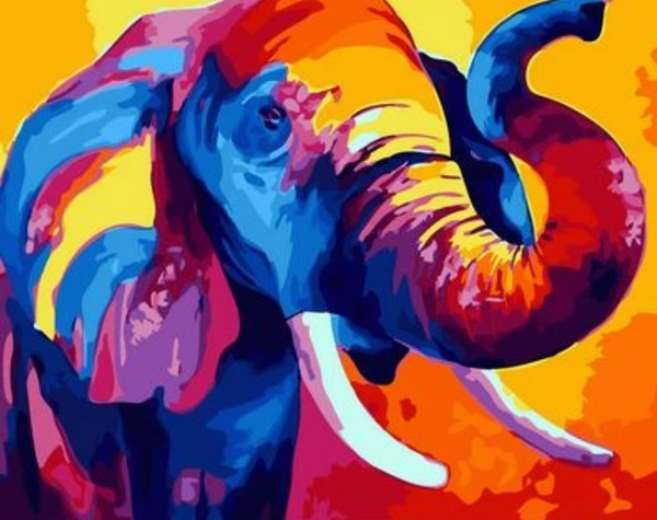 Animal Elephant Diy Paint By Numbers Kits XQ2583
