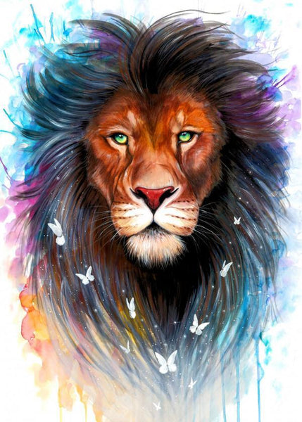 Lion Diy Paint By Numbers Kits QFA90087