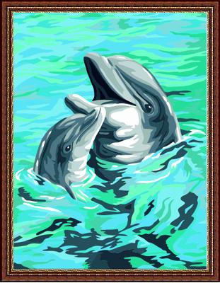 Dolphin Diy Paint By Numbers Kits ZXE123