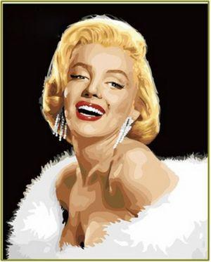 Marilyn Monroe Diy Paint By Numbers Kits ZXE359