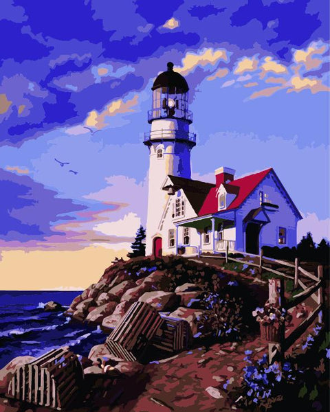 Lighthouse Diy Paint By Numbers Kits ZXE523-23