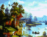 Landscape Mountain Lake Diy Paint By Numbers Kits ZXE543-23