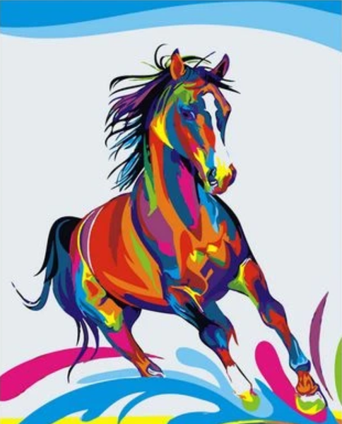 Animal Horse Diy Paint By Numbers Kits Uk ZVM85054
