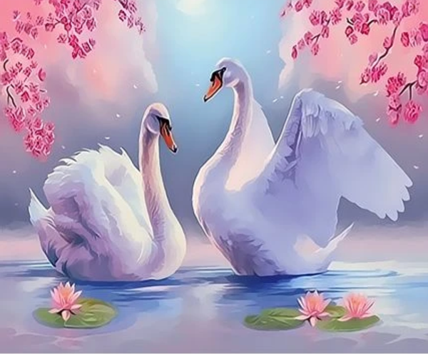 Animal Swan Diy Paint By Numbers Kits ZXQ3103