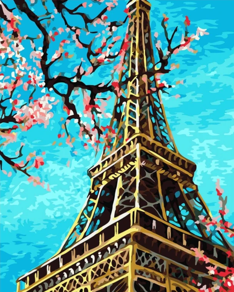 Paris Eiffel Tower Diy Paint By Numbers Kits VM92038