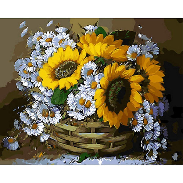 Flower In Basket Diy Paint By Numbers PBN90303