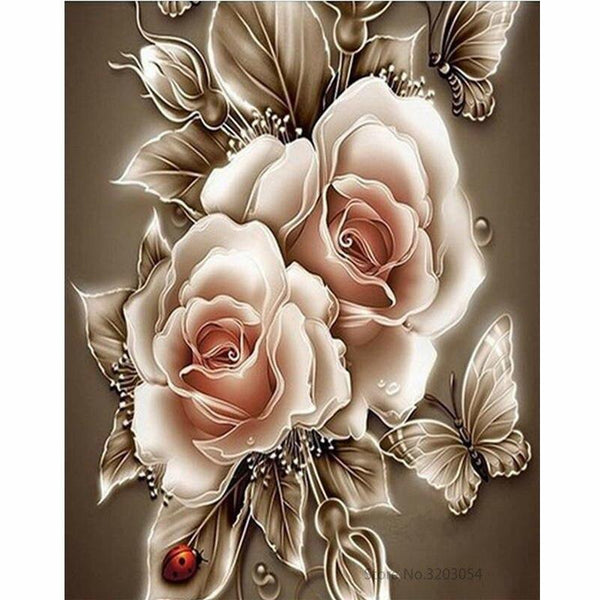 Flower Diy Paint By Numbers Kits VM90560