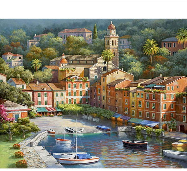 Landscape Town Paint By Numbers Kits PBN91046