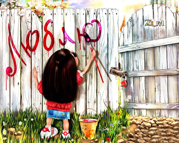 Girl Diy Paint By Numbers Kits PBN93020
