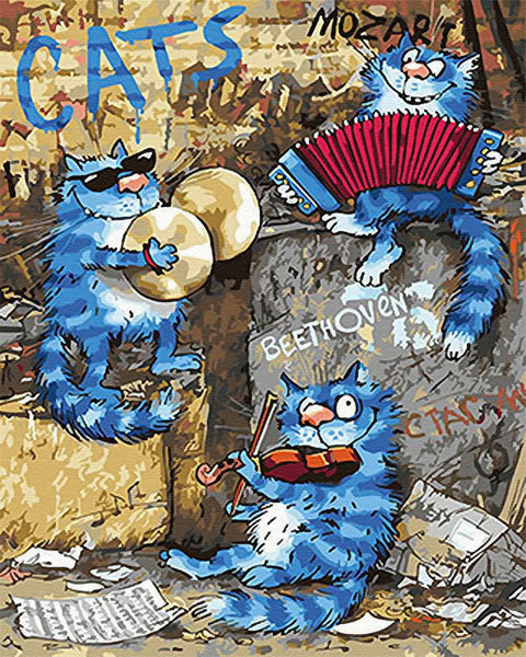 Cat Diy Paint By Numbers Kits PBN95638