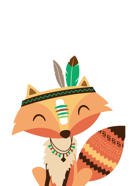 Cartoon Fox Diy Paint By Numbers Kits VM97330