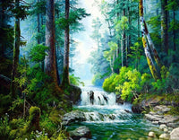 Landscape Waterfall Diy Paint By Numbers Kits VM97896