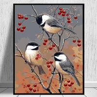 Birds On The Fruit Tree Diy Paint By Numbers Kits PH9288