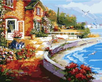 Landscape Seaside Town Diy Paint By Numbers Kits ZXQ1502