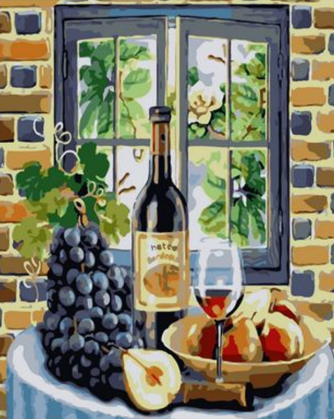 Wine And Fresh Fruit Diy Paint By Numbers Kits ZXQ2402-23