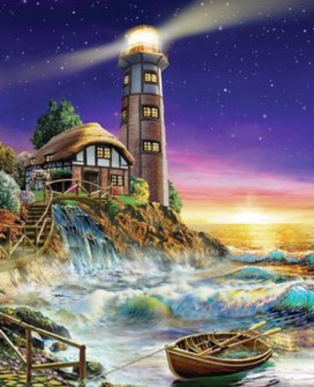 Lighthouse Diy Paint By Numbers Kits ZXQ2694