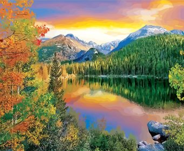 Landscape Mountain Lake Diy Paint By Numbers Kits ZXQ2773
