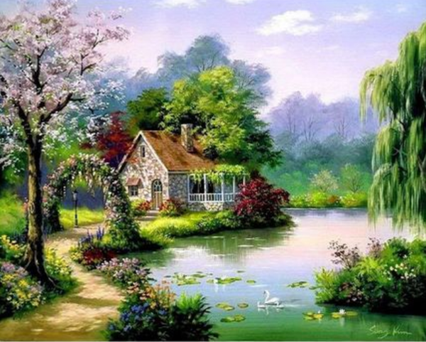 Landscape Cottage Diy Paint By Numbers Kits ZXQ2899-22